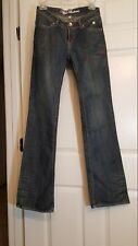 Apple Bottoms Jeans Apple Pockets Embroidered Faded Dark Wash Size 5/6