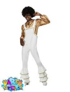 Adult Mens 1970s Super Trooper Glam Costume Disco Man Abba Fancy Dress Outfit