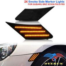 Smoke Lens 2pcs LED Amber Side Marker Light Kit Fits 2013-2020 Toyota 86 BRZ FRS