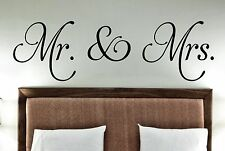 Mr. & Mrs.Vinyl decals decor wall words stickers family decal quotes wedding