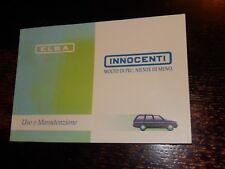 INNOCENTI ELBA MANUALE USO E MANUTENZIONE 1995