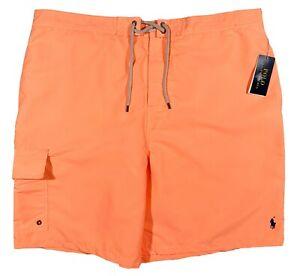Men's POLO RALPH LAUREN Muted Orange Swimsuit Swim Trunks 2XB (2XL BIG) NWT NEW