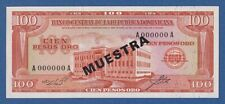 DOMINICAN REPUBLIC -- MUESTRA -- 100 PESOS ORO ND (1964-74) -- UNC -- PICK 104s3