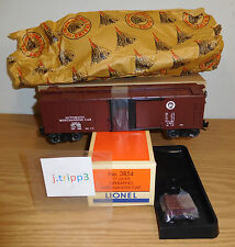 LIONEL #3854 PENNSYLVANIA OPERATING MERCHANDISE CAR O GAUGE TRAIN POSTWAR REMAKE