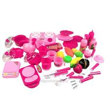40Pcs Portable Pink Children Kids Kitchen Food Cooking Girl Toy Cooker Play Set