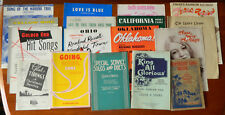 Vintage Sheet Music and Song Books Lot of 17 1932-1974