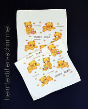Badetuch Duschtuch Strandtuch Handtuch Kinder Baby Saunatuch Bärchen gelb 55x110