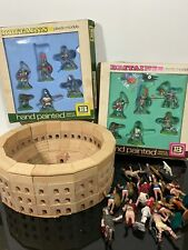 Vtg Britains Plastic Models Painted Toy Soldiers Aohna Safari & Roman Colosseum