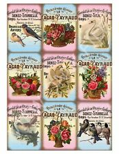 9 Love Birds and Baskets of Roses Romantic Vintage Hang Tags Scrapbooking (45)