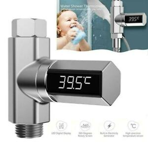 Bathroom Water Shower Thermometer Adjustable Waterproof LED Thermometer  Fast