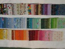 """Lot of 450 different  5"""" fabric squares - cotton-quilting"""