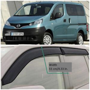 NE18409 Window Visors Vent Wide Deflectors For Nissan NV200 5d 2009-