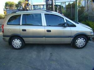 HOLDEN ZAFIRA RIGHT FRONT 1/4 GLASS (IN DOOR)  2003