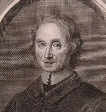 Portrait XVIIIe Nicolas de Malebranche Philosophe Philosophie