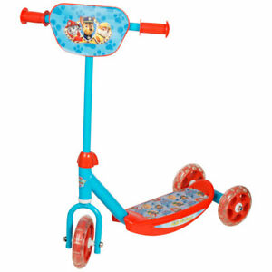 KIDS 3 WHEEL ADJUSTABLE GRIP PUSH SCOOTER PAW PATROL OUTDOOR RIDE PARK QUALITY