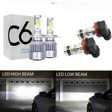 LED Combo Headlight Bulbs H4 9003 High&Low Beam+H11 H8 Fog Lights White 6000K