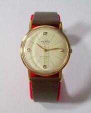 Ruhla vintage RDA reloj hombre funcionan 7 Jewels mano Winding Gents watch GDR
