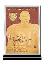 1996 NFL TERRELL OWENS SF 49ers Draft Pick Feel The Game 23K GOLD Rookie Card