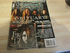 TERRORIZER MUSIC MAGAZINE NO 133 with original  cd OBITUARY, GOREROTTED