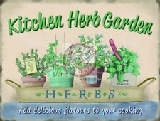 Kitchen Herb Garden, Food Home Cooking, Pub Cafe, bistro, Small Metal Tin Sign