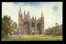 Northants PETERBOROUGH Cathedral Railway GER OFFICIAL vintage Oilette PPC