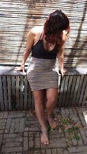 Handmade Cotton Knit Stretch Skirt, Hippie, Pixie, Doof, Psy Size 8-14
