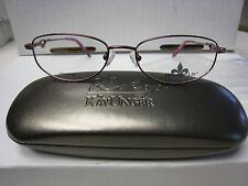 FLEUR DE LIS Eyeglass Frames  SNOWFALL in BURGUNDY  53-17-140  free case