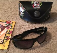 """Ed Hardy """"Death Is Certain, Life Is Not"""" Sunglasses New"""