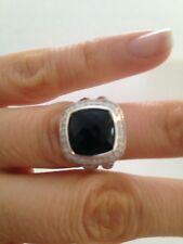 Pre Owned DAVID YURMAN ALBION 11MM Onyx   DIAMOND RING  SIZE 5