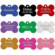 PET ID Bone Dog & Puppy Cat Collar Name TAG - Personalised engraved 31mm x 21mm