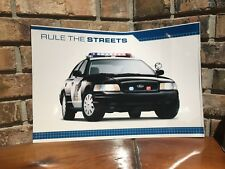 2009 2010 2011 FORD CROWN VICTORIA POLICE RULE THE STREETS 12X18 PHOTO POSTER