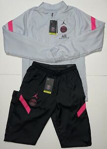 Nike Air Jordan PSG Ice Grey Black Pink Strike Woven Tracksuit BNWT Small Rare S