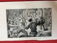 m2v ephemera 1950s reprint picture in pantomime workshop 1870