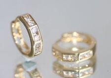 2 x 6 Brilliant Created Tiny Diamond 1.5cm Hoops