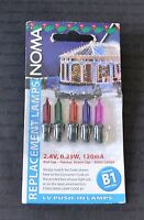 NOMA B1 2.4V 0.29W MULTI-COLOURED STATIC SPARE BULBS (1121)