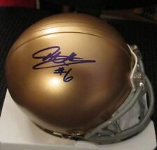 Theo Riddick Signed Notre Dame Fighting Irish Riddell Mini Helmet w/ Coa