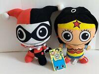 """DC Comics Original 10"""" Plush Harley Quinn Girl & Wonder Women Justice League"""
