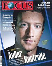 FOCUS Magazin - Heft 13/2018: Der Facebook-Skandal  +++ wie neu +++