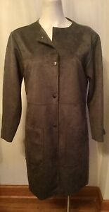Philosophy Gray Faux Leather Jacket Size Small