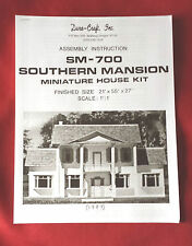 Dura-Craft  *SOUTHERN MANSION* SM-700 (1987)  Dollhouse Instructions