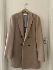 Reiss Camel Double Breasted Coat XL