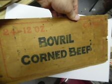 c.1930s BOVRIL CORNED BEEF Cans Wood Crate Box from Argentina Vintage Original
