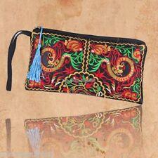 Women Ethnic Handmade Wristlet Clutch Bag Purse Wallet embroided floral Handbag