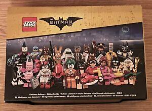 LEGO MINIFIGURES 71017 - BATMAN MOVIE SERIES 1 - FACTORY SEALED BOX OF 60 PACKS