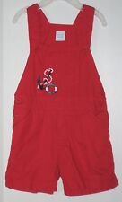 PANDA Size 18-24 Months Boys Red Overalls