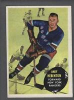 1961-62 Topps New York Rangers Hockey Card #55 Andy Hebenton