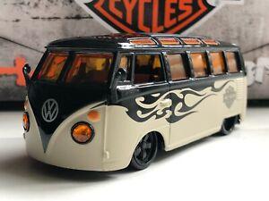 MAISTO HARLEY DAVIDSON VOLKSWAGEN VW VAN SAMBA 1:25 BLACK / BEIGE NEW NO BOX