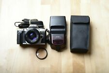 minolta maxxmum 5 Film Camera with 50mm F1.7 alpha mount lens and flash