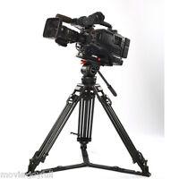"V12L 66"" Aluminum Video Professional Tripod Fluid Head 12KG for Red Scarlet ARRI"