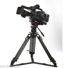 "66"" Aluminum Video Camcorder Tripod Fluid Head 12KG for Red Scarlet Epic FS700"